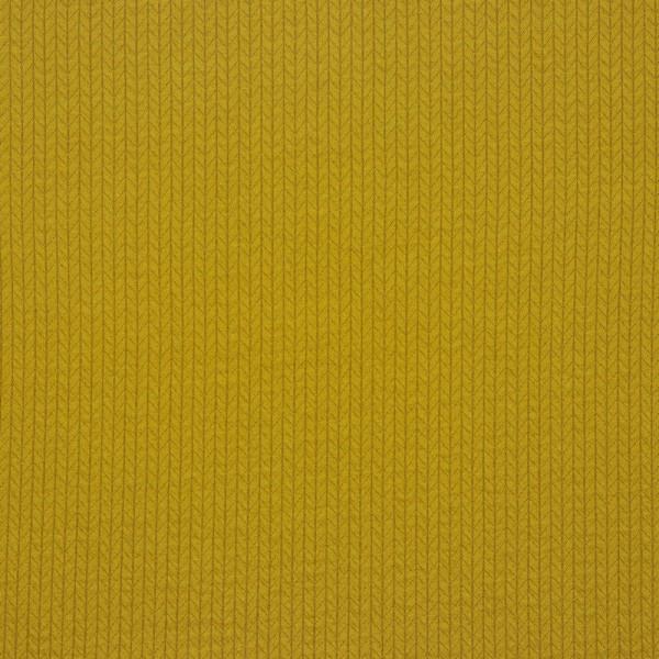 Jersey   bedruckt   recycelte Baumwolle   Strickmuster   senf