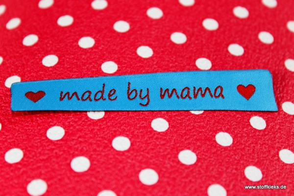 Applikation | Label | made by mama | blau
