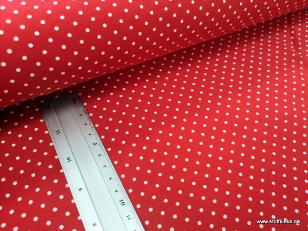Jersey | bedruckt | 3mm Punkte | rot/weiss