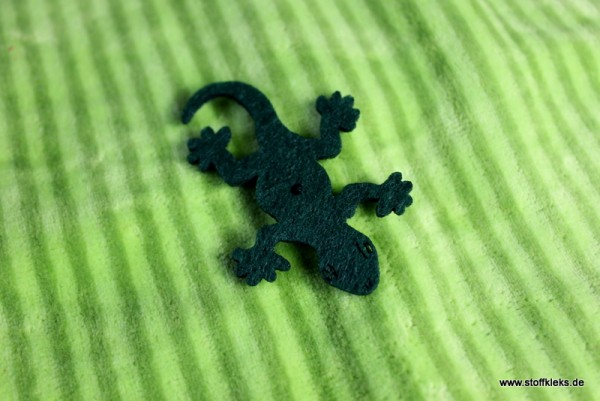 Filzapplikation | Gecko| dunkelgrün