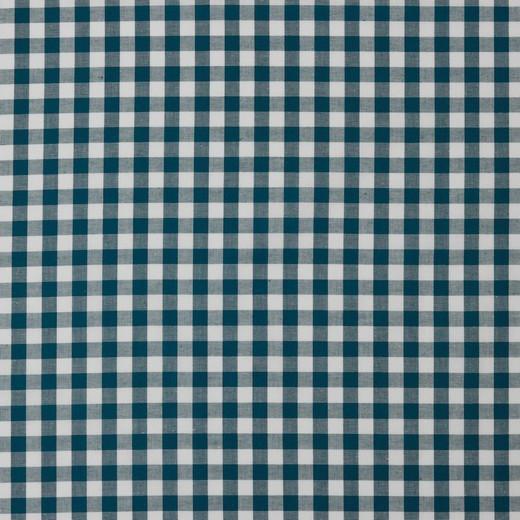 Baumwolle | Vichy | 8mm | petrol/weiß