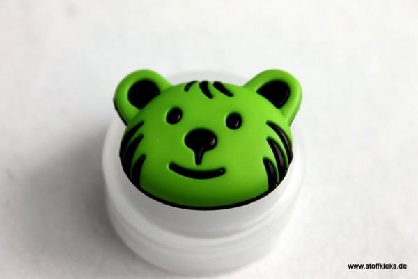 Knopf | Kunststoff | Bär | grün