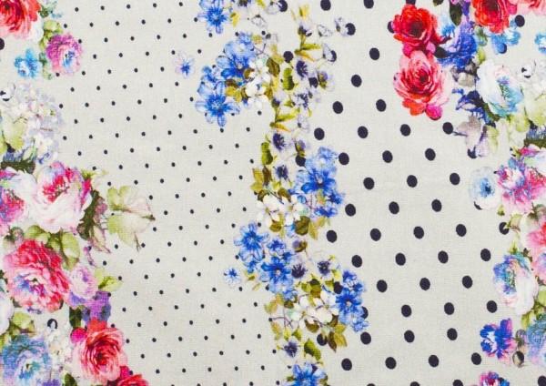 Jersey | bedruckt | Blumenpunkte