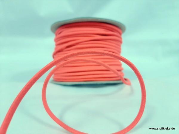 Gummikordel 3mm | rosa | 10 m