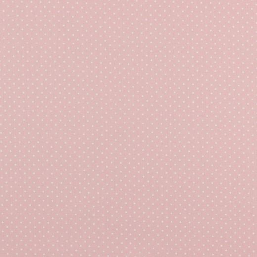 Baumwolle | bedruckt | 1mm Punkte | rosa/weiss