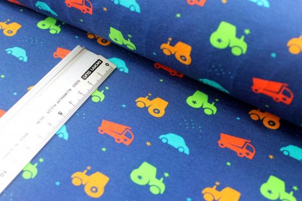 Jersey | bedruckt | Fahrzeuge | Kinder | blau