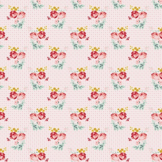 Baumwolle | bedruckt | CHARMING ROSES | rosa