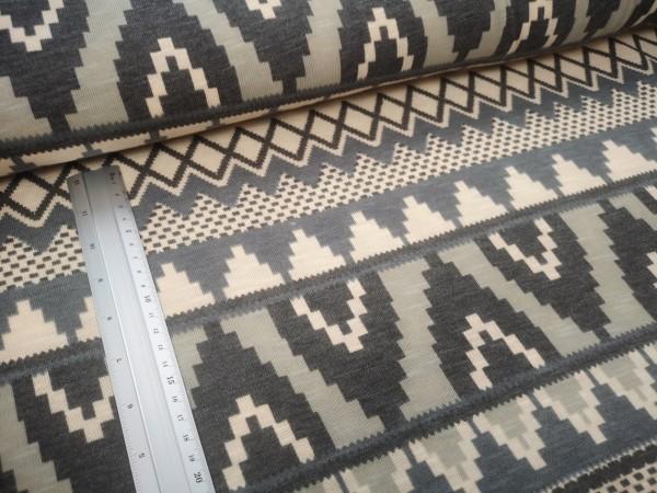 Strick | grafische Muster | creme/grau