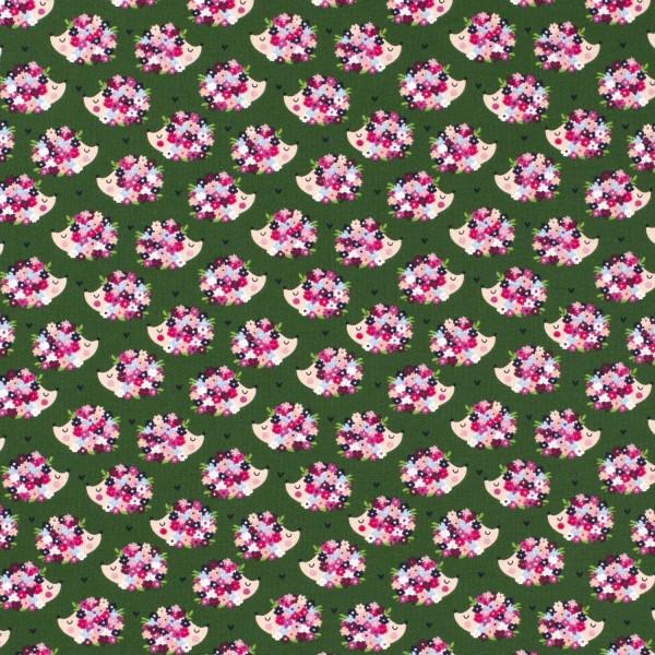 Jersey | bedruckt | Blumenigel | grün
