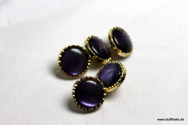 5 Knöpfe   Kunststoff   purple love   1 cm