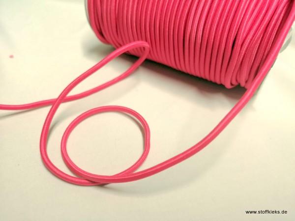 Gummikordel 3mm | neonpink | 10m