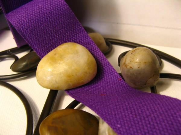 Gurtband | Baumwolle | 4cm | lila
