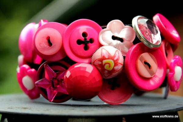 Knopfarmband - Set zum Selbermachen | pink
