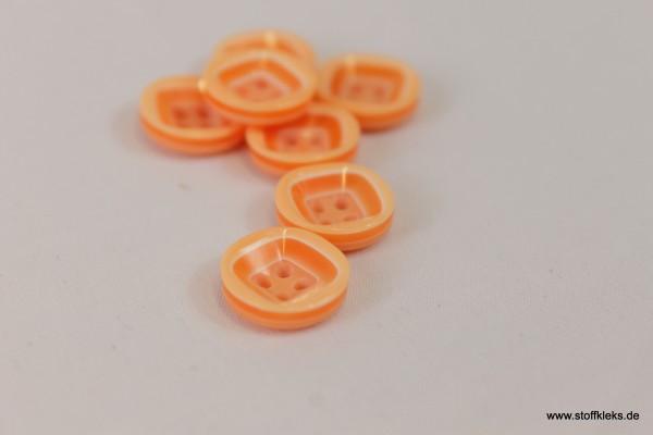 5 wunderschöne Kunststoff-Knöpfe | orange | ca 1,3cm