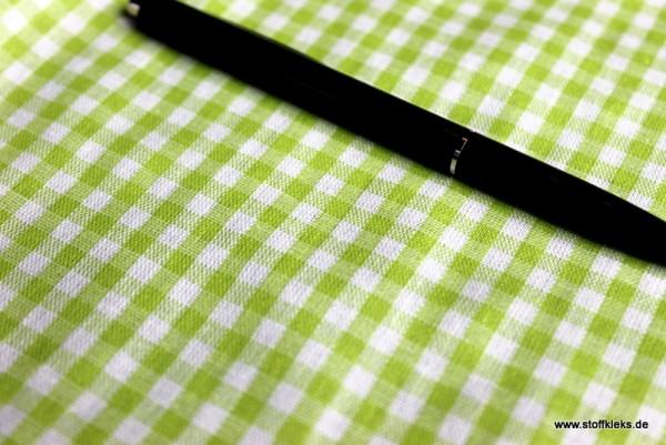 beschichtete Baumwolle / Wachstuchstück | Vichy | grün