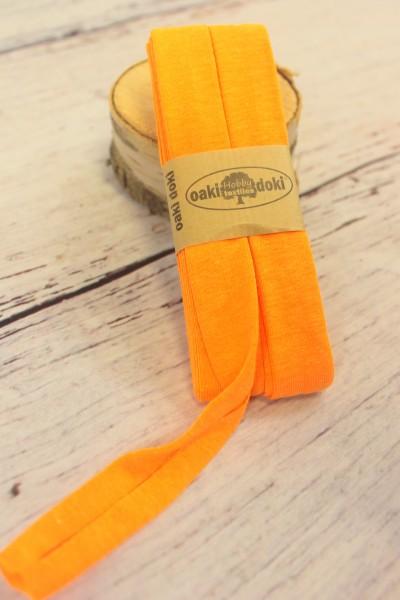 Bias Jersey Schrägband/Einfassband | 40 / 20mm | 3m | Nr. 952 | neon orange