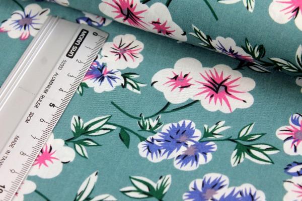 Viskose | bedruckt | Fleur | vintage grün