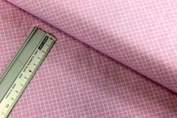 Baumwolle | bedruckt | Karo | rosa