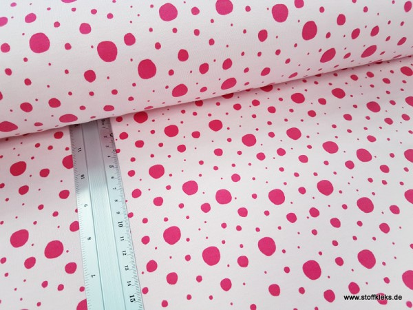 Sommersweat | French Terry | BubbbleDots | rosa/pink