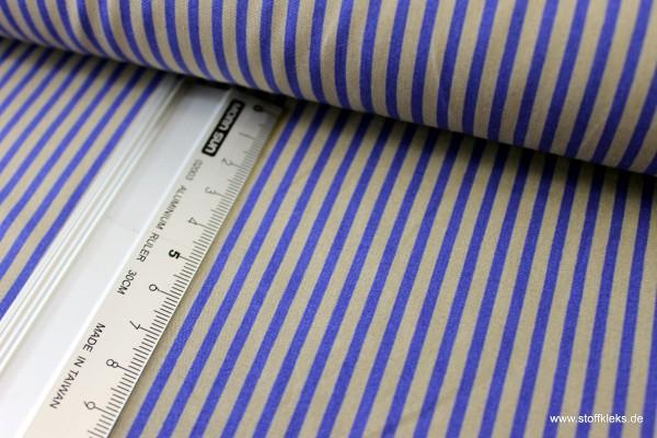 Baumwolle | bedruckt | long stripes | blau / grau