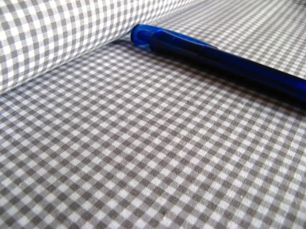Baumwolle | Vichy | 3mm | grau/weiß