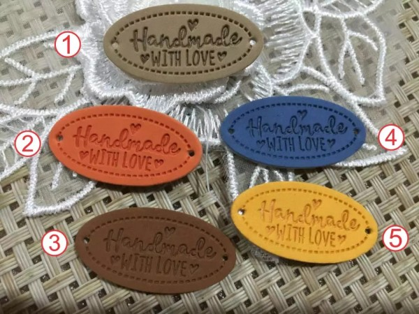 Label | Applikation | Lederimitat | 5x handmade with love