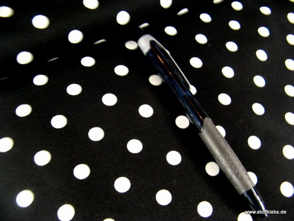 Baumwolle | bedruckt | 8mm Punkte | schwarz/weiss