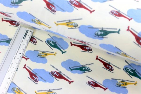 Jersey | bedruckt | Hubschrauber | creme