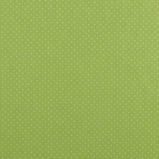 Baumwolle | bedruckt | 1mm Punkte | grün/weiss
