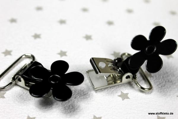 Applikation & Co | Metallclips | Blume | schwarz