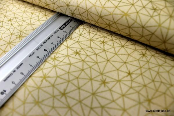 Baumwolle | bedruckt | stoffabrics | #MCS 18-10 | Amazing Stars | Sterne gelbgold