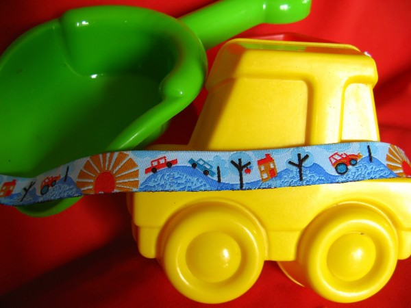 Webband | Traktor mit Autos blau