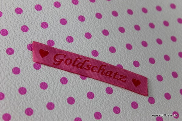 Applikation | Label | Goldschatz | rosa