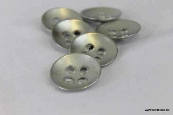 Knopf | Metall | schlichte Eleganz | mattsilber | 2,5 cm