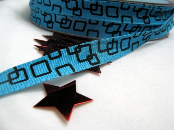 Ripsband | quadratisch | blau