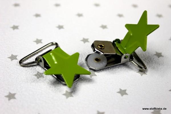 Applikation & Co | Metallclips | Stern | grün