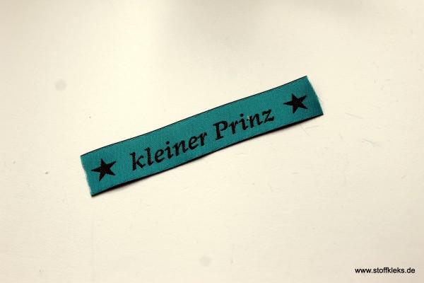 Applikation | Label | kleiner Prinz | petrol mit braun | 1,5 cm