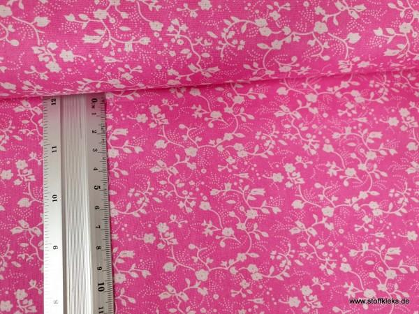 Baumwolle | bedruckt | Blumenprint | pink