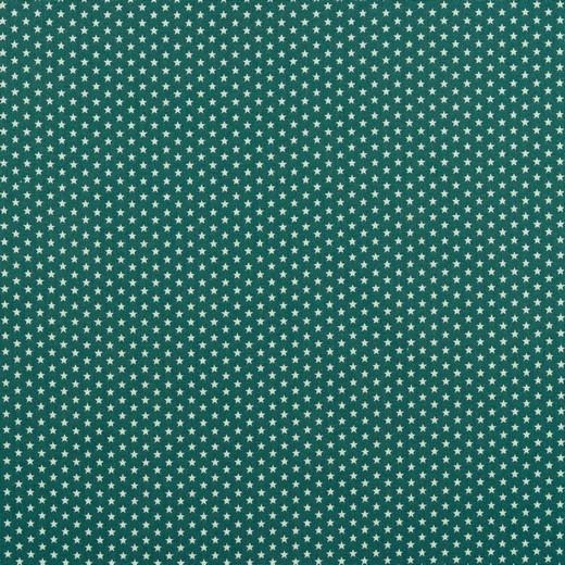 Baumwolle | bedruckt | 4mm little stars | petrol
