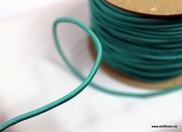 Gummikordel 3mm | dunkeltürkis | 10m