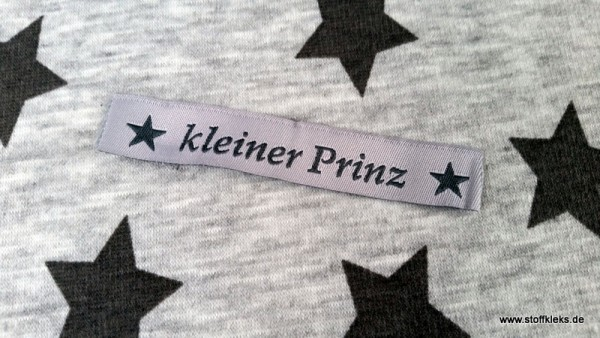 Applikation | Label | kleiner Prinz | grau