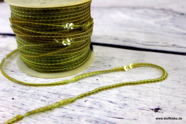 Paillettenband | gelb | 1 cm