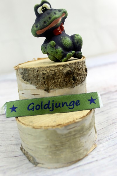 Applikation | Label | Goldjunge | grün