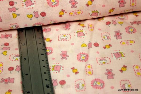 Baumwolle | bedruckt | Candy bear | rosa