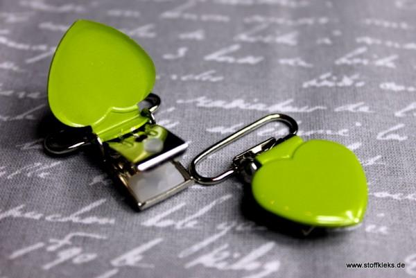 Applikation & Co | Metallclips | Herz | grün