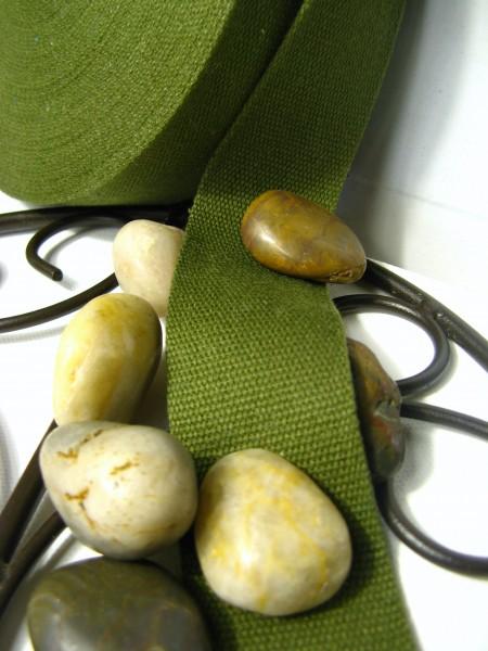 Gurtband | Baumwolle | 4cm | kaki