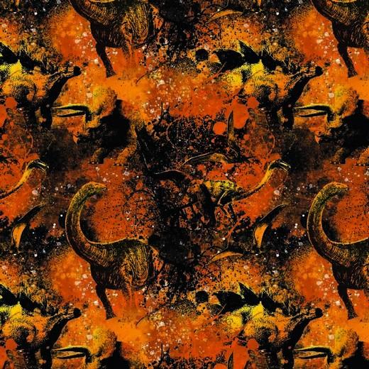 Jersey | bedruckt | DIGITAL | Jurassic World | orange