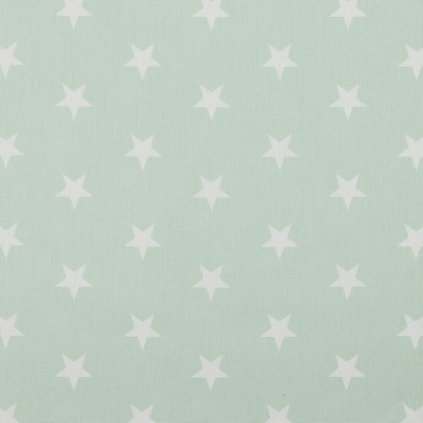 Baumwolle | bedruckt | 3cm Sterne | mint / weiss
