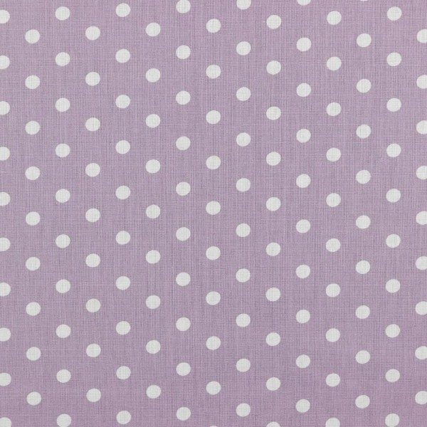 Baumwolle | bedruckt | 8mm Punkte | hell lila / weiss