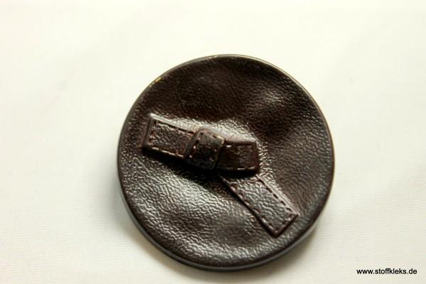 Knopf | Kunststoff | Lederknoten | Öse | 3,6 cm